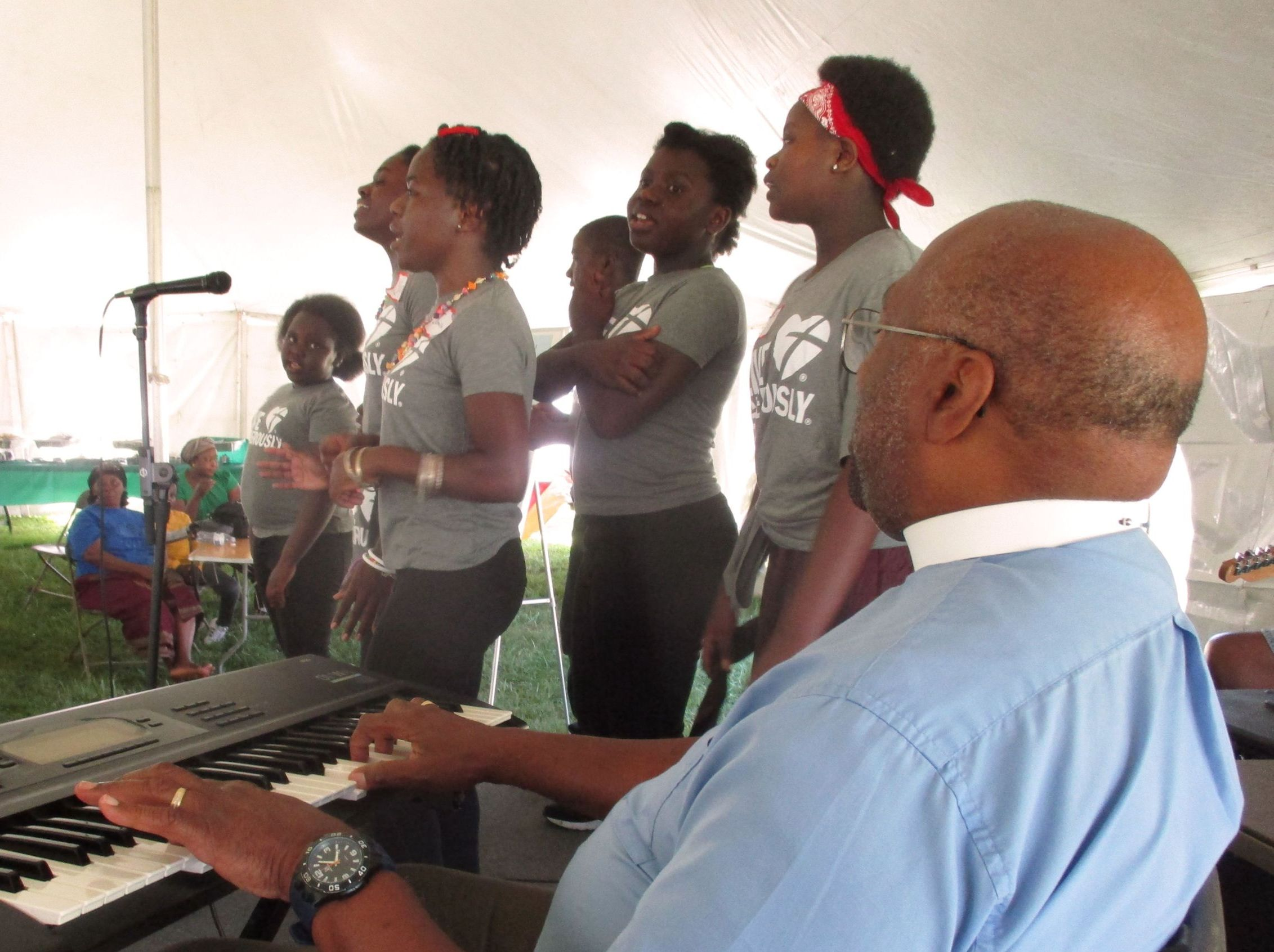 The Ambassadors for Christ youth choir at the Harvest Festival.